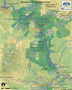 dolores river map gateway whitewater rafting in