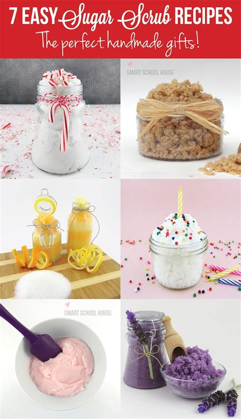 Handmade Scrubs - easy sugar scrub recipes
