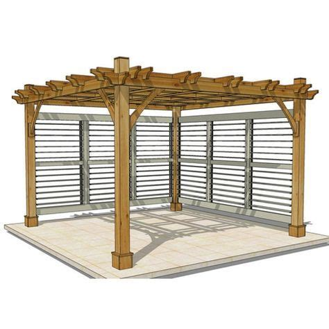 kiosque de jardin 3202 outdoor living today 12 x 12 pergola with 2