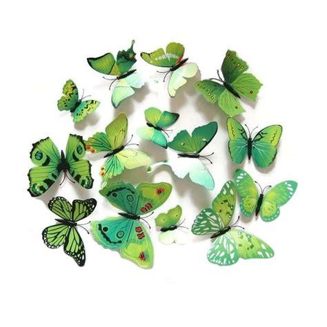 Wallsticker Kupu Kupu 4d Hiasan Dinding Kupu Kupu 4d Bbkhm076 jual eigia delice 3d wall sticker hiasan dinding kupu kupu helena hijau harga