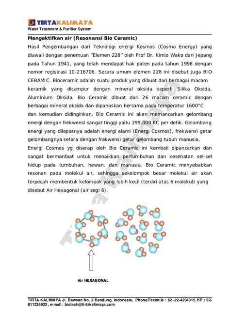 bioceramic adalah proposal ukm air minum isi ulang tirta mandiri