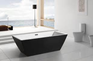 modern black acrylic freestanding 71 quot square bathroom