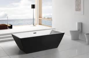Black acrylic freestanding 71 quot square bathroom soaking shower bath tub