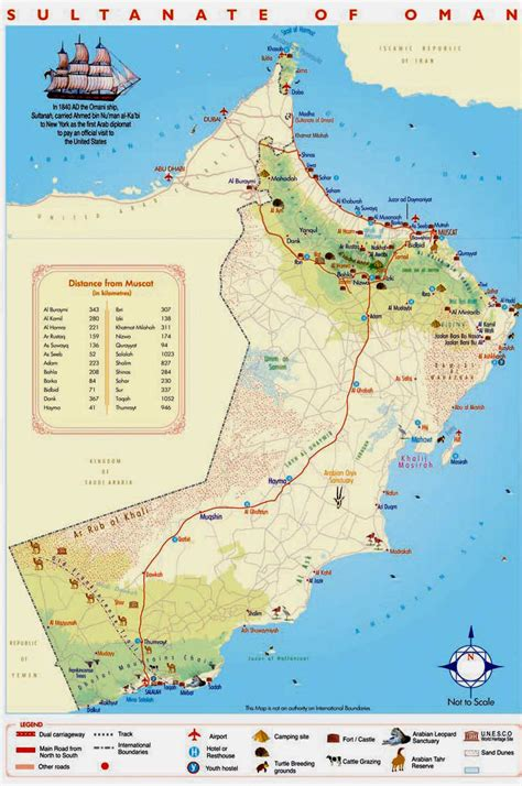 physical map of oman detailed tourist map of oman oman detailed tourist map