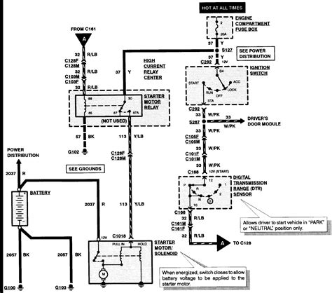 1985 mustang starter solenoid wiring diagram circuit and