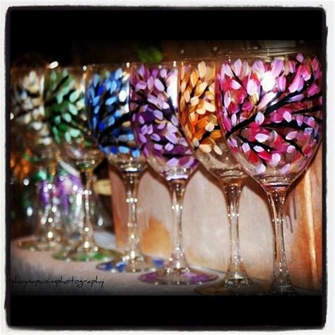 wine glass craft projects wine glass crafts