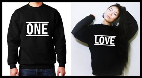 hoodie design for couples one love couple sweatshirt matching couple shirts