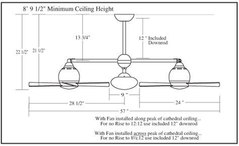 metropolitan double ceiling fan dimension of ceiling fan best home design 2018