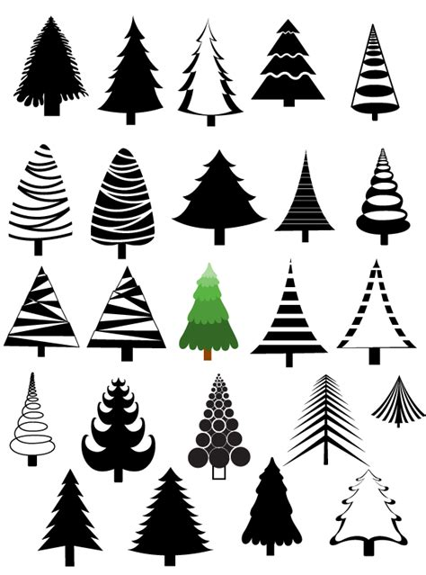 christmas trees vectors brushes shapes png photoshop