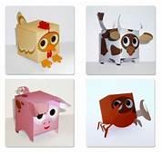 Cute Box Shape Animal Papercraft  Jouets B&233b&233 Pinterest