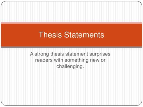 exle of thesis paragraph an exle thesis statement