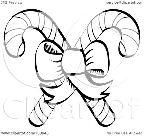 christmas picture outline royalty free rf clipart illustration of a coloring page outline of a bow tying together two