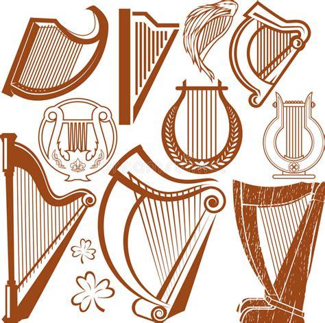 raccolta clipart raccolta dell arpa illustrazione vettoriale illustrazione