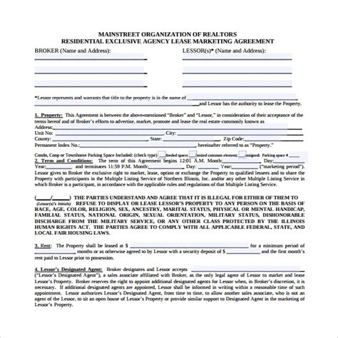 19 Sle Marketing Agreement Templates To Download Sle Templates Free Marketing Contract Template