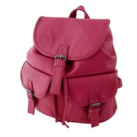 vintage pu leather backpack bookbags satchel