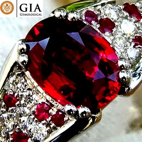 Ruby 7 65 Ct ruby ring and 18 kt gold unheated