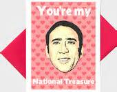 nicolas cage birthday card greeting cards and gifts by turtlessoup on etsy