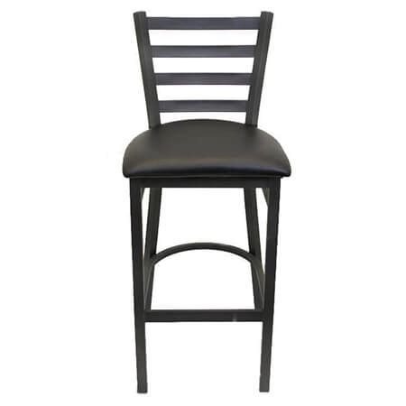 Ladder Back Bar Stools With Seats by Black Metal Ladder Back Bar Stool With Black Vinyl Seat