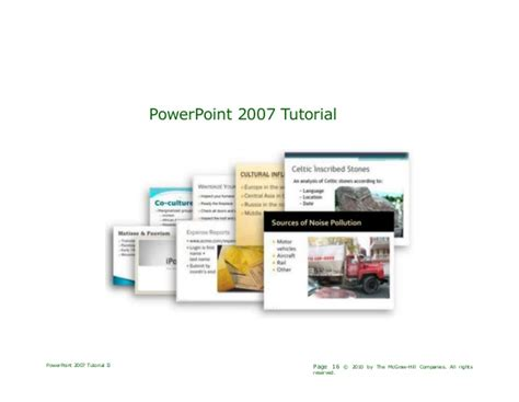 tutorial for powerpoint presentation 2007 ppt 2007 tutorial complete