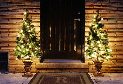 pre lit entryway tree sharper image