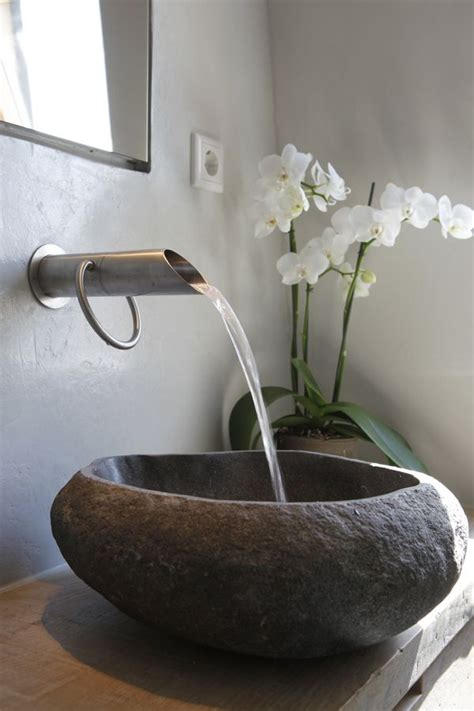 stones in bathroom sink 25 best ideas about stone sink on pinterest earthy
