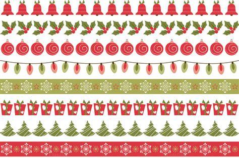 christmas pattern border christmas borders patterns on creative market