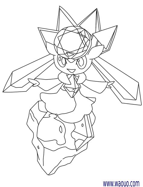 pokemon coloring pages mega diancie coloriage diancie pokemon 224 imprimer
