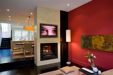 modern living room wall decor decorating with red photos inspiration for a beautiful