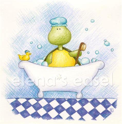 turtle in the bathtub song bathtub time turtle by elenaseasel on deviantart