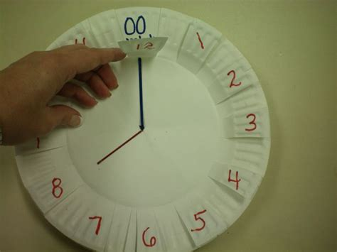 Make Paper Clock - 17 best images about measurement telling time on