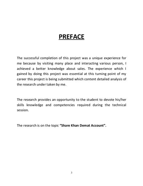 Mba Project Sle by Preface For Project Report Www Pixshark Images