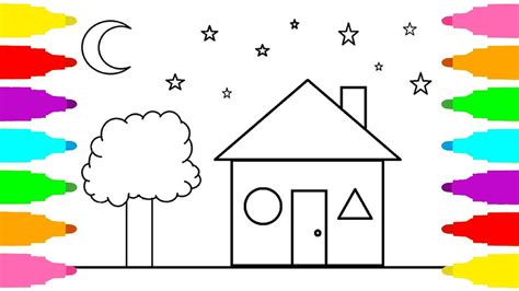 coloring house drawing and coloring house coloring pages house for