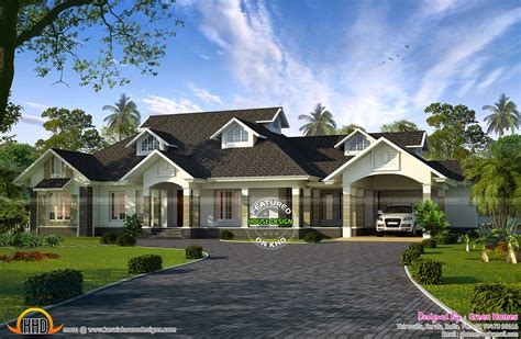 1 Story House Plans With Wrap Around Porch may 2015 kerala home design and floor plans