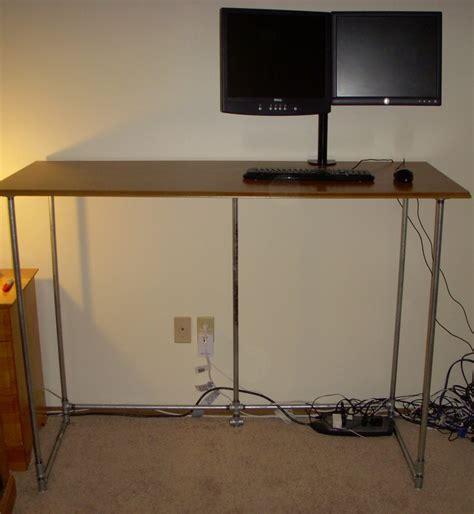 106 Best Images About Standing Desks On Pinterest Standing Pipe Desk
