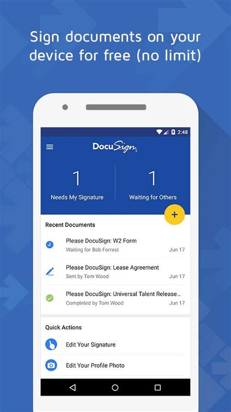 sign documents on android docusign upload sign docs android apps on play