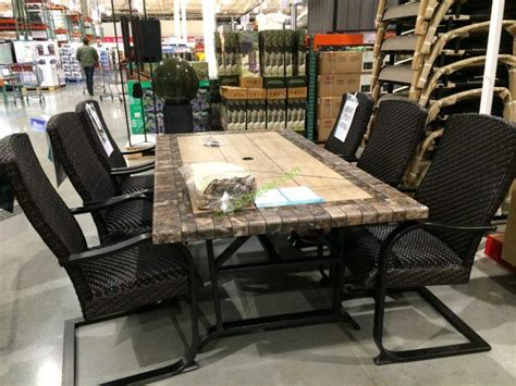 agio international patio furniture costco agio international 7 pc woven dinning costcochaser