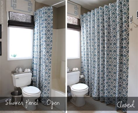 Pictures Of Shower Curtains In Bathrooms How To Make Any Curtain Into A Shower Curtain Burger