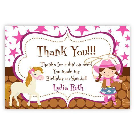 cowgirl   card pink stars brown polka dot girl