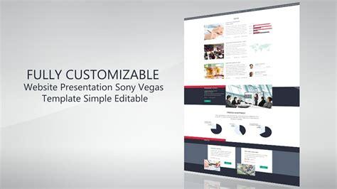 Website Presentation Promo Template Sony Vegas 12 13 Sony Vegas Presentation Template