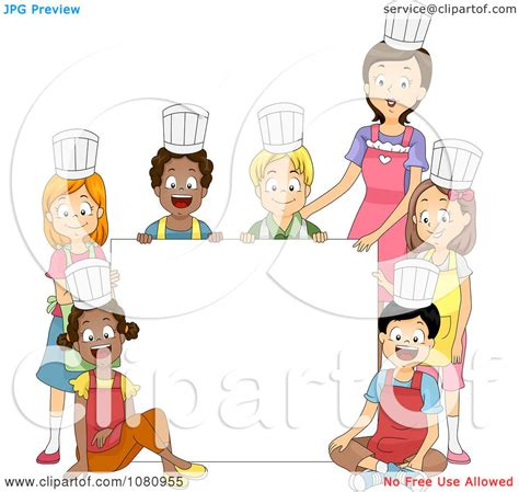 clipart home economics class and around a blank