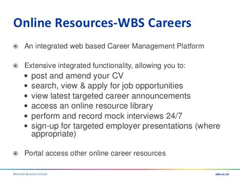 Warwick Business School Mba Requirements by Career Development Presentation 11 Feb 2011 Mentoring