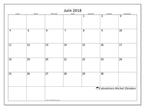 Calendrier 2018 Juin Calendriers Juin 2018 Ld