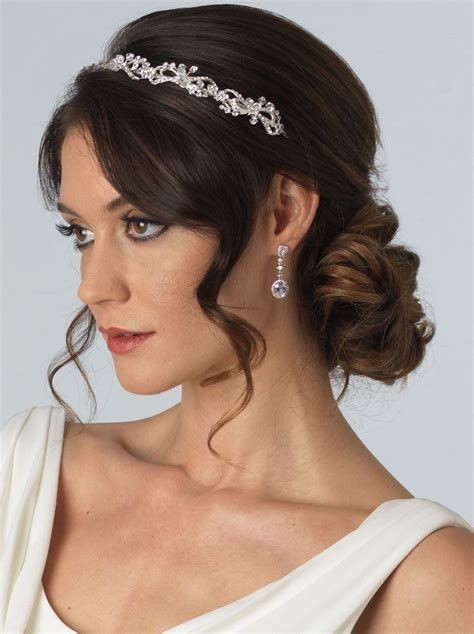 hairstyles with rhinestone headband bridal headband in silver tone pairs the delicate