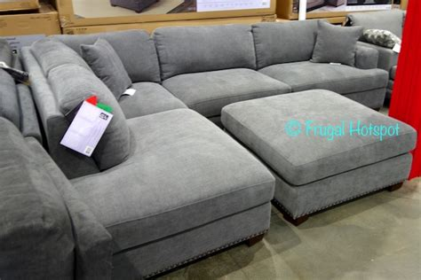 bainbridge fabric sectional with ottoman costco bainbridge fabric sectional with ottoman 899 99