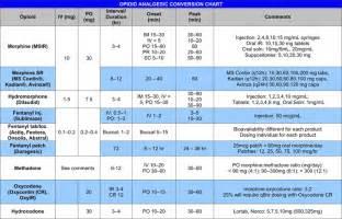 free opioid analgesic conversion chart pdf 1 page s