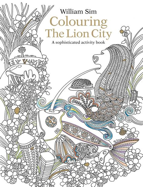 Singapore Themed Colouring Books And Cards For Adults