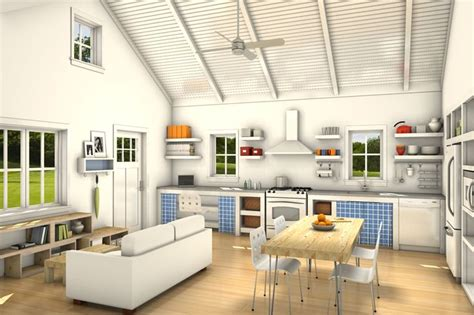 freegreen com image narrow house interior rendering home plans