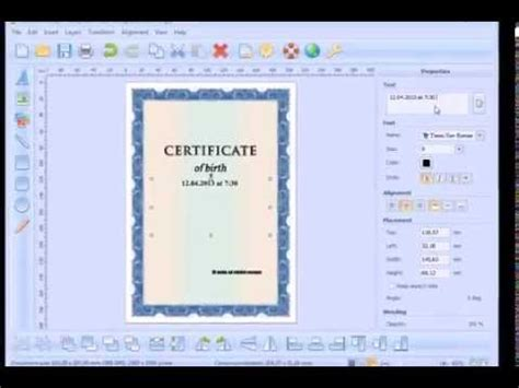 how to make a blueprint online how to create and print a certificate of birth youtube