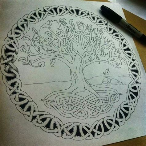 celtic tree tattoo designs knotty inks custom celtic design me