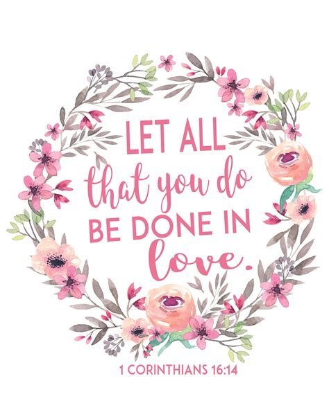 printable inspirational quotes from the bible free printable bible verse printable let all that you do